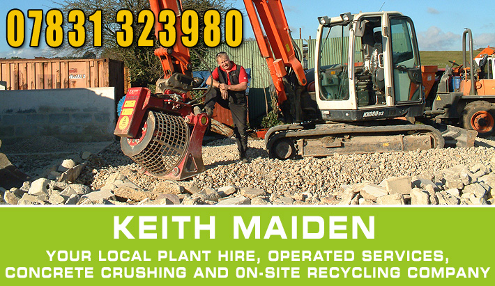 Concrete crusher hire Dorset