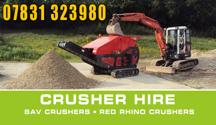 concrete bursting crusher hire Dorset