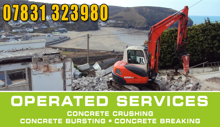 operated plant hire Dorset